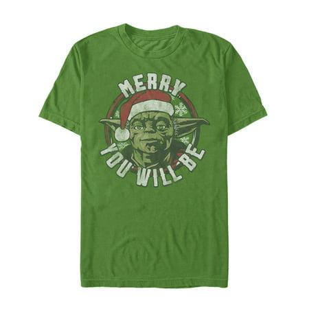 Men's Disney Star Wars Yoda Merry You Will Be Christmas