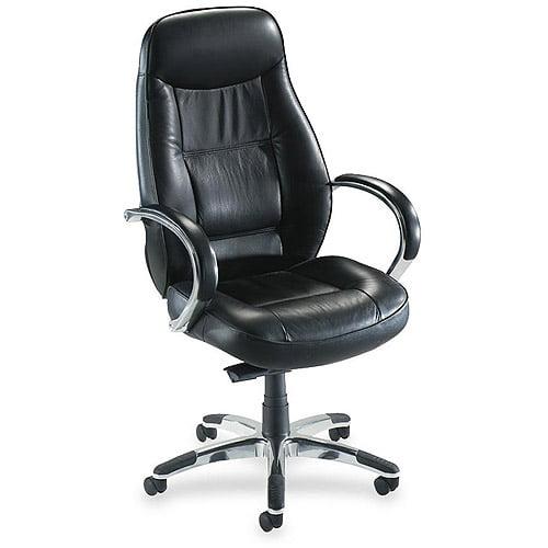 Lorell Ridgemoor Executive High-Back Swivel Chair, Black