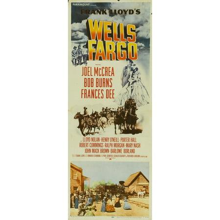 Wells Fargo Poster Movie Insert A  14X36