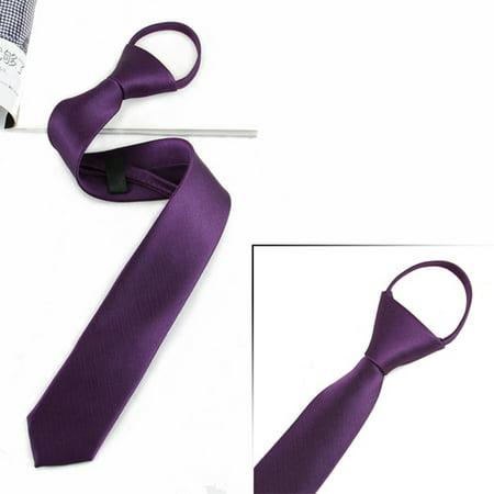 2019 Hot Sale Men Boys Zipper Tie Solid Pre-tied Business Skinny Necktie Party Wedding Club Suit Neckwearb Ties for