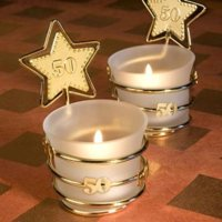 Gold Star Design 50th Anniversary Celebration Favors  pack of 24