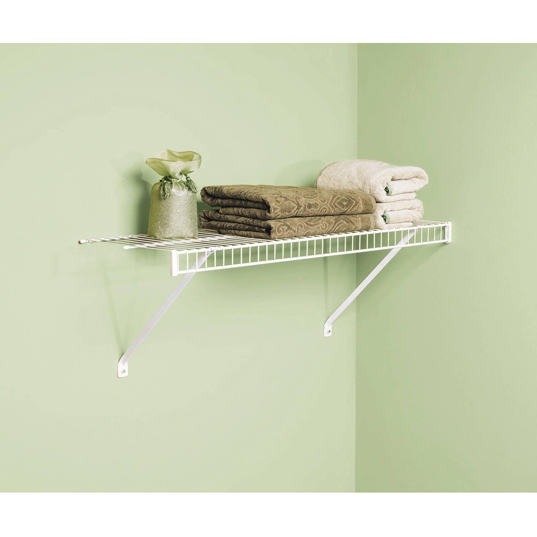 "Rubbermaid Linen Shelf Kit, 12"" x 3', White"