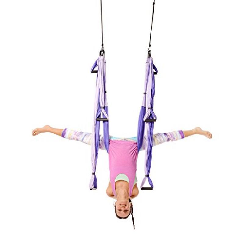 Yoga Trapeze -Yoga Swing/Sling/Inversion Tool, Purple