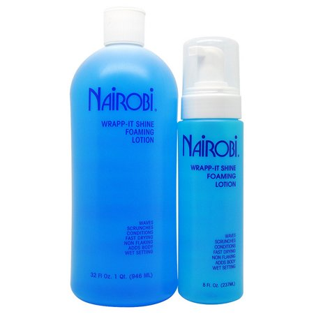 Nairobi Wrapp-It Shine Foaming Lotion 32 Fl. Oz. + 8 Fl. Oz. Combo