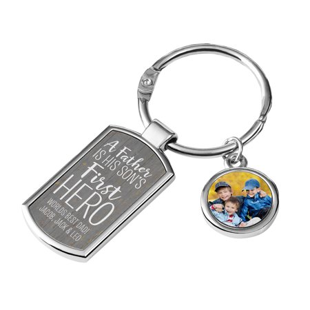 Personalized First Memories Photo Key Chain - Available in 3 Colors