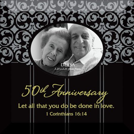 Dexsa Simple Expressions ''50th Anniversary'' Beveled Glass Picture Frame
