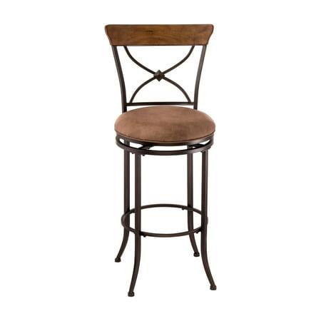 Surprising Hillsdale Furniture Charleston 40 5 X Back Swivel Counter Stool Desert Tan Finish Creativecarmelina Interior Chair Design Creativecarmelinacom