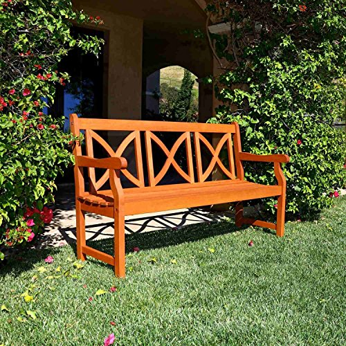 Vifah Outdoor Bench, Standard Benches, Patio Furnitures I...