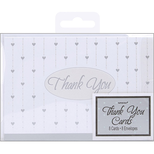 """""""Thank You"""" Cards and Envelopes, Formal Affair, 8pk"""