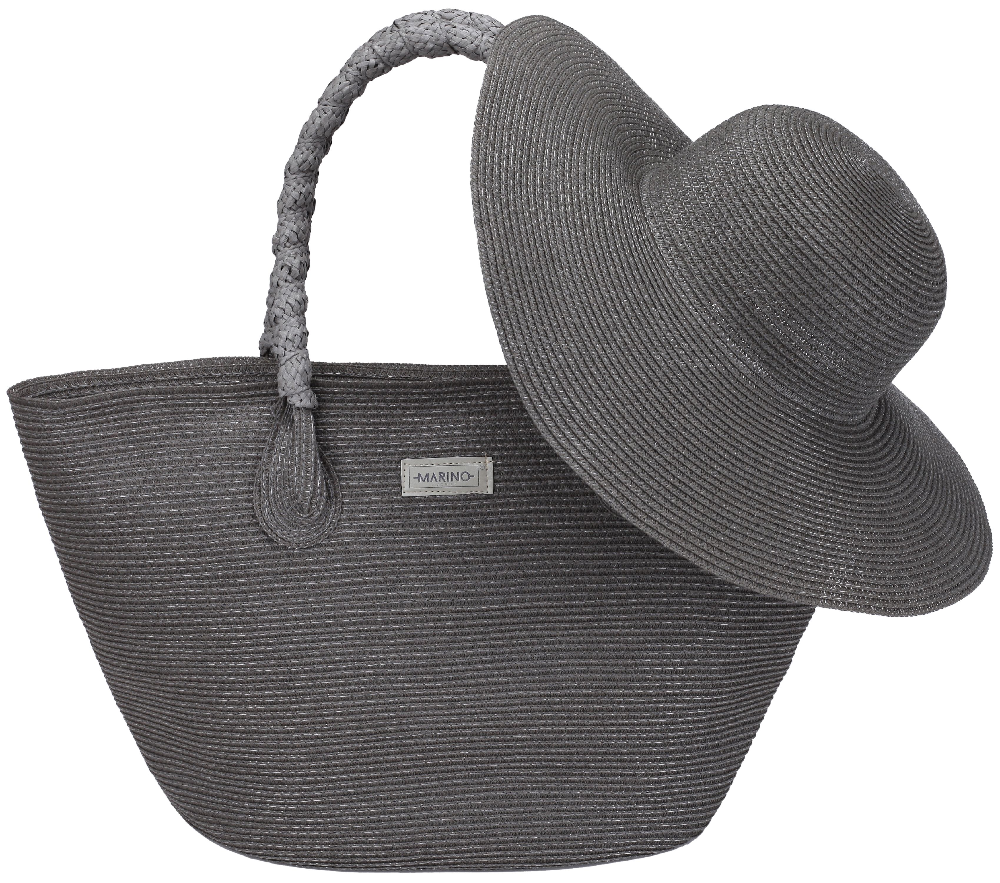 Marino Avenue - Marino Best Beach Tote Bag and Suns Hat for Women - Floppy  Straw Hat and Swimming Bag - Sun Protection Hat UPF 50+ - Gray - One Size  ... ce7dc4bbcf8d