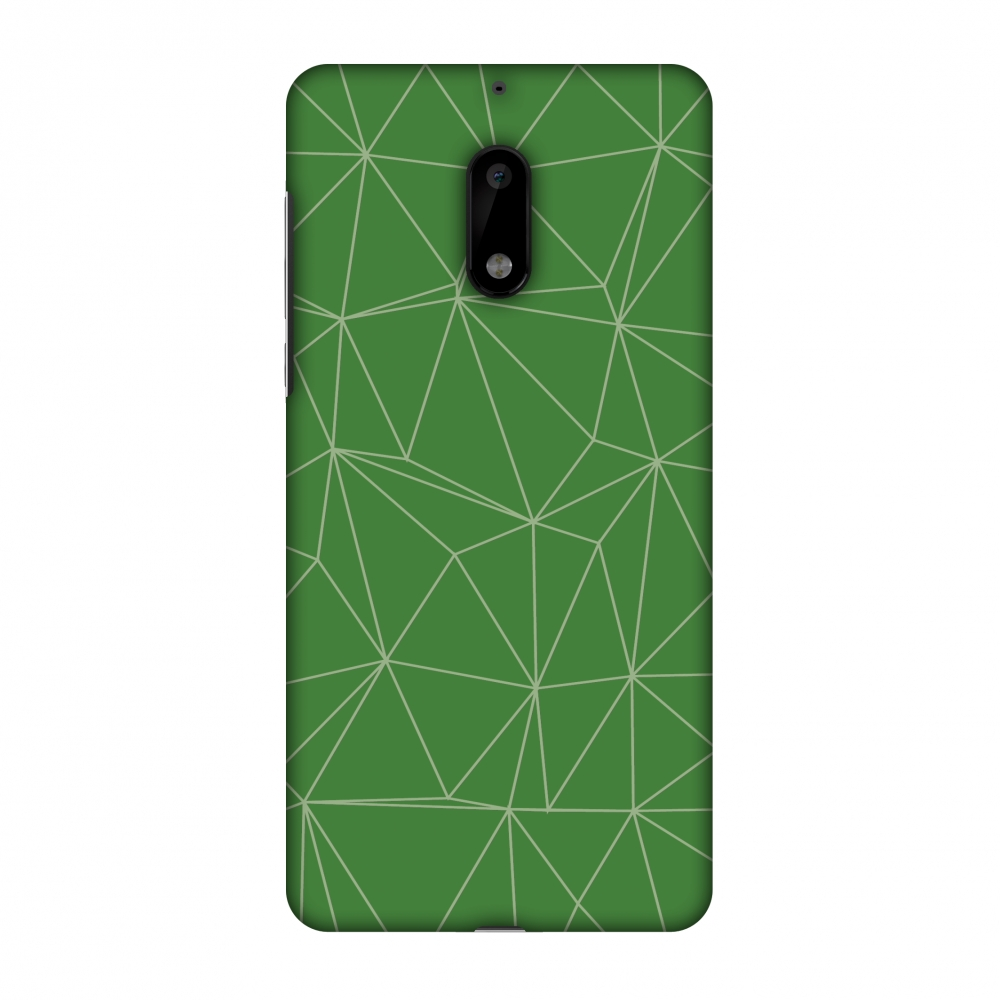 Nokia 6 Case, Premium Handcrafted Designer Hard Shell Snap On Case Printed Back Cover with Screen Cleaning Kit for Nokia 6, Slim, Protective - Carbon Fibre Redux Pear Green 14
