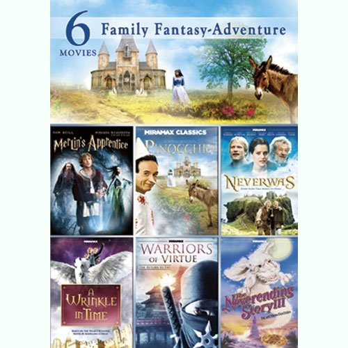 Family Fantasy Adventure: Pinocchio / Merlin's Apprentice / Neverending Story 3 / A Wrinkle In Time / Neverwas / Warriors Of Virtue: Return To Tao