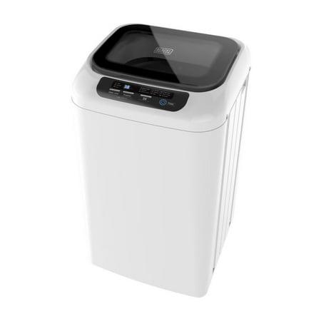 Black + Decker 0.9 cu ft Compact Washer, White