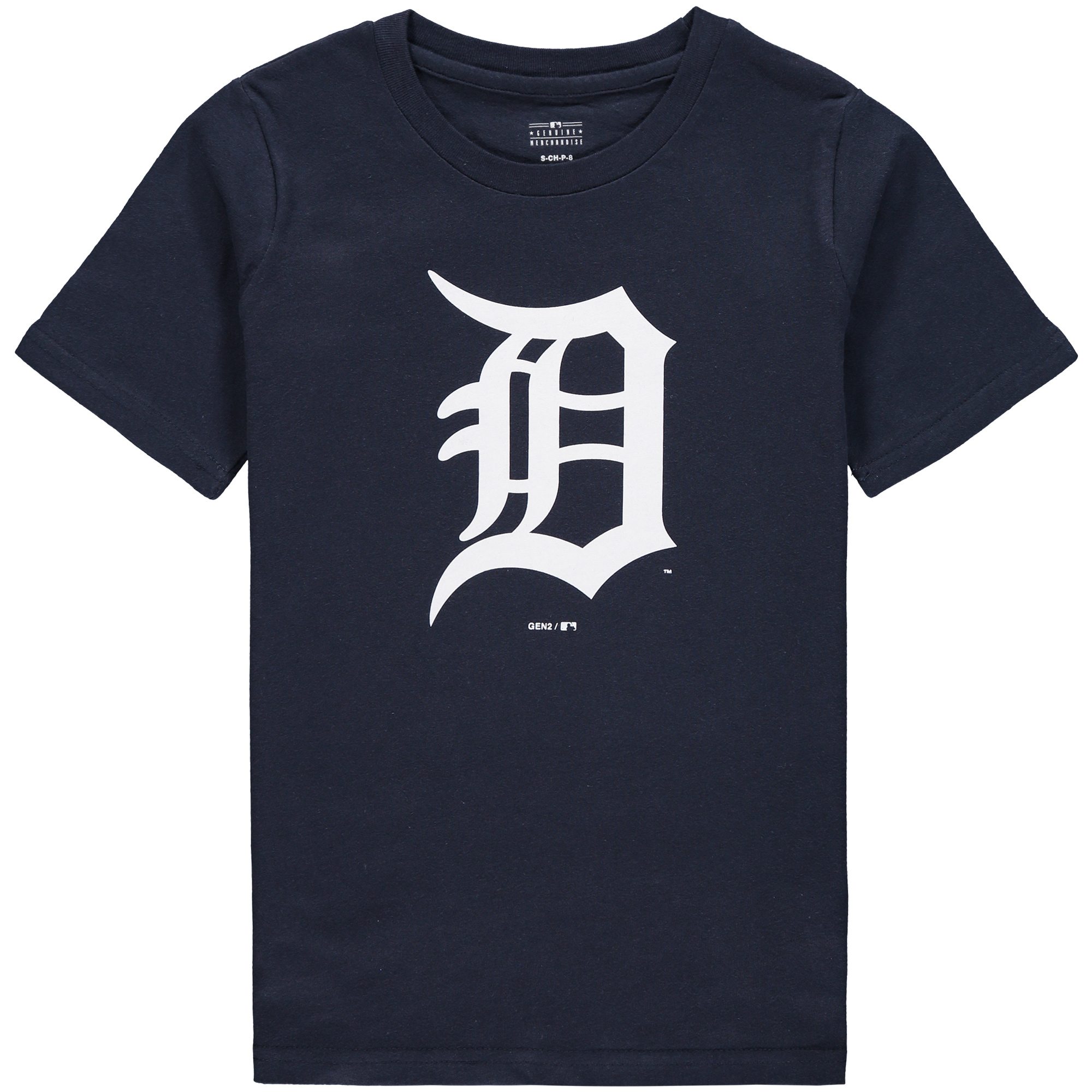 Detroit Tigers Youth Primary Logo T-Shirt - Navy