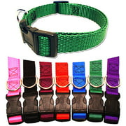 Majestic Pet 10`` - 16`` Adjustable Collar in Multiple Colors Fits Most 10-45 lbs Dogs