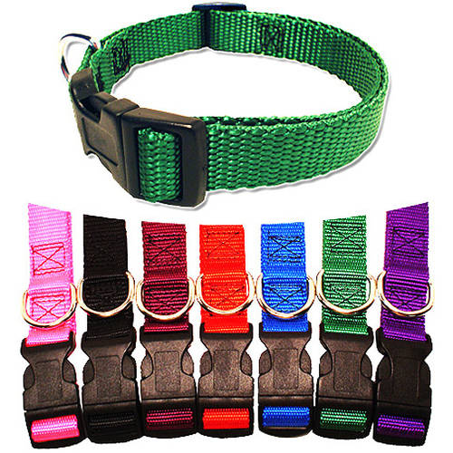 Majestic Pet 10'' - 16'' Adjustable Collar in Multiple Colors Fits Most 10-45 lbs Dogs