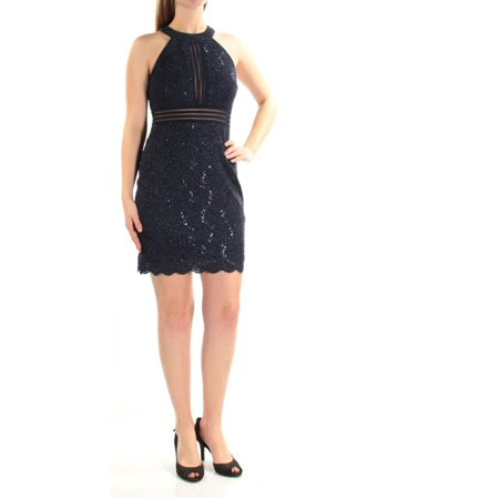 c486dffe8e4 Nightway - Nightway Petite Sequined Lace Illusion Cocktail Dress -  Walmart.com