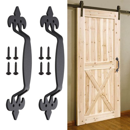 """Yescom 11"""" Sliding Barn Door Handle Vintage Heavy Duty Cast Iron Pull Gate Shed Cabinet"""