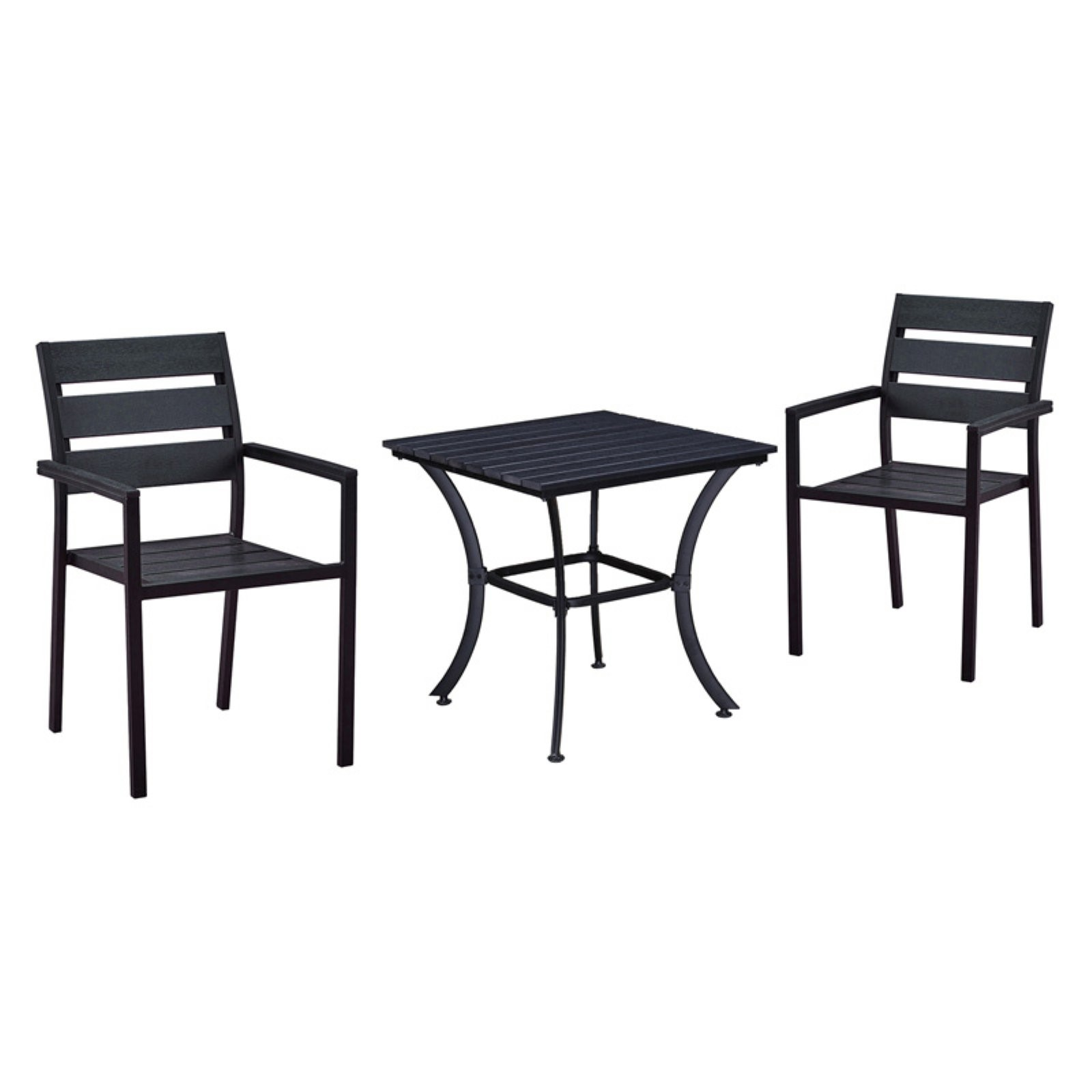 Oakland Living Slat Back Stackable Indoor/Outdoor Square Bistro Set
