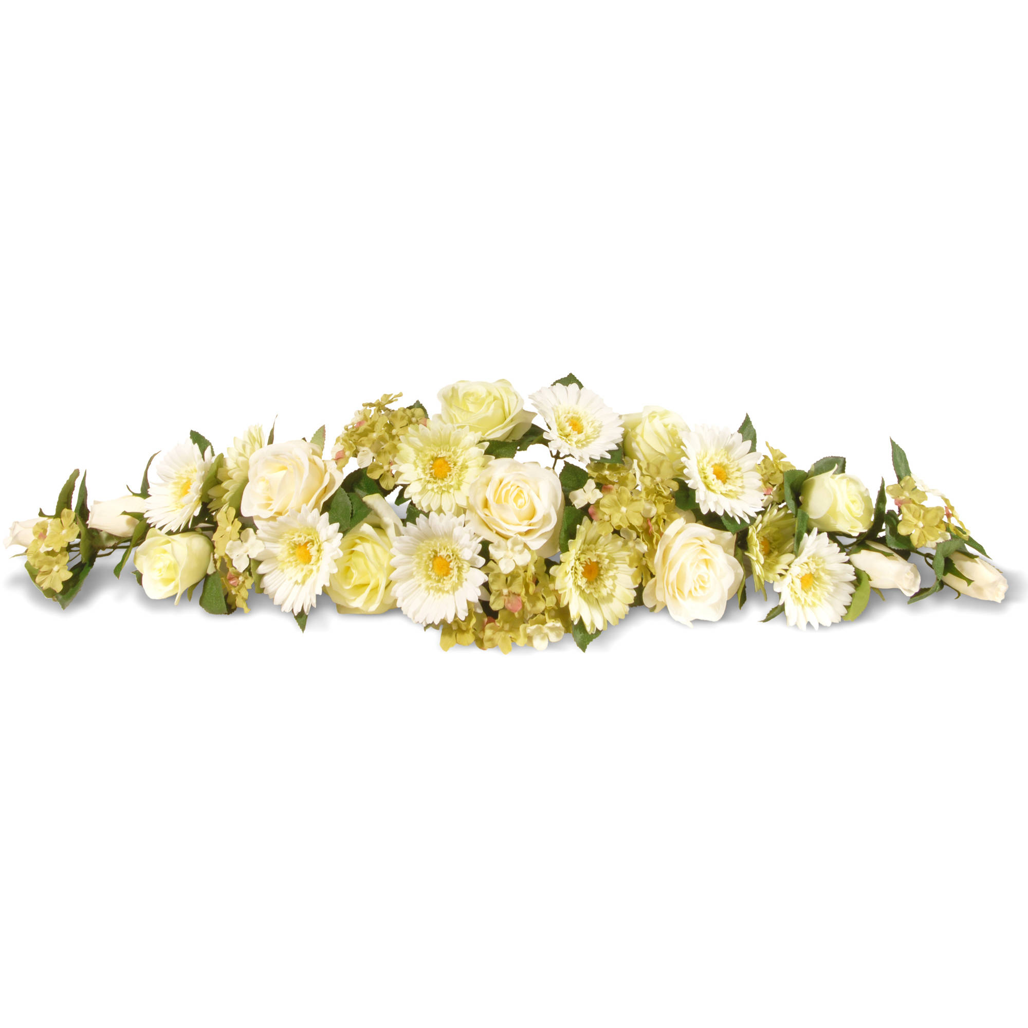 """National Tree Artificial 33"""" Ivory Spring Flowers Swag"""