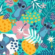 Disney Lilo & Stitch in The Jungle 100% Cotton Fabric Sold by The Yard