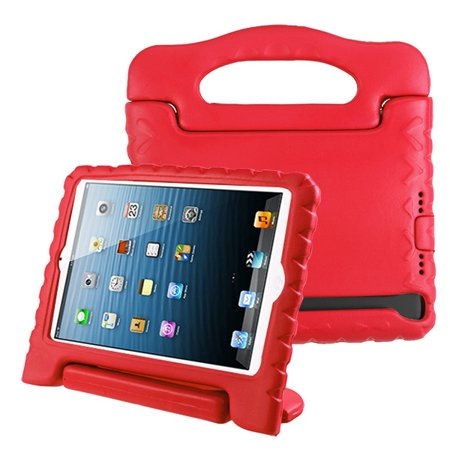 Apple iPad Mini 1 2 3 4 5 Generation Case for Kids Durable Shockproof Drop-resistant Protective Handle Bumper Stand Cover EVA Case for iPad Mini 5th Gen (2019) 4th 3rd 2nd 1st Tablet - RED (Airport Extreme 4th Gen Vs 5th Gen)