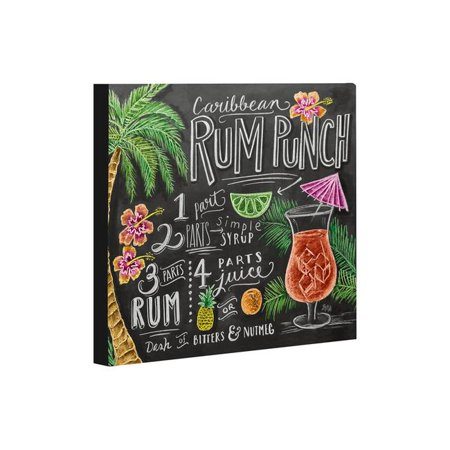 One Bella Casa 73824WD8 8 x 10 in. Rum Punch Canvas Wall Decor by Lily & Val, Gray & Multicolor - Rum Punch Recipes