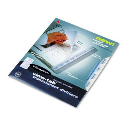WLJ55064 - View-Tab Transparent Index Dividers