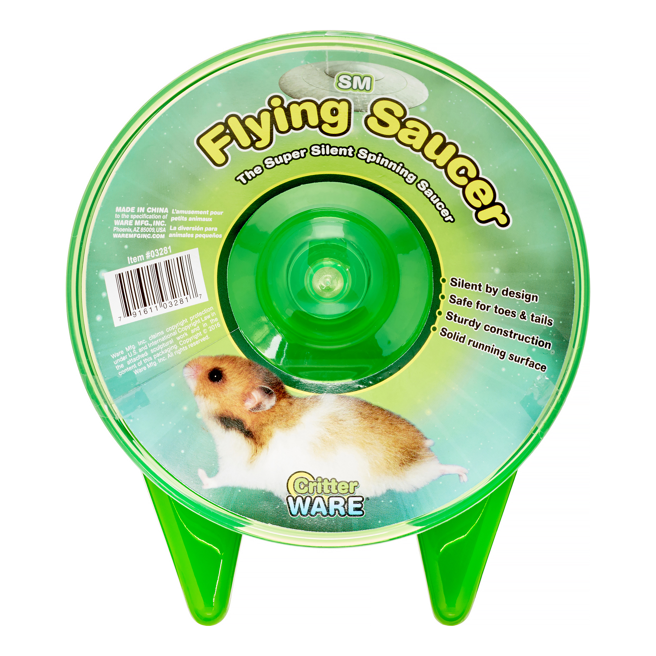 Ware Flying Saucer Small Animal Exercise Wheel, Small
