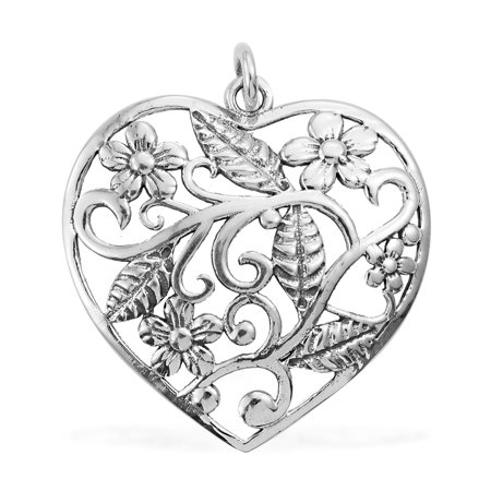 Heart Pendant Necklace 925 Sterling Silver Handmade Gift Jewelry for Women 4.02 -