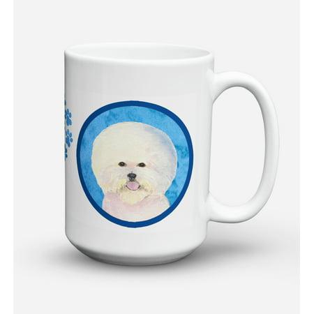 Bichon Frise Dishwasher Safe Microwavable Ceramic Coffee Mug 15 ounce SS4802
