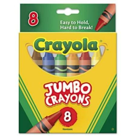 Premium Quality Jumbo Crayon - Crayola Jumbo Crayons 8 Count, 2 Pack