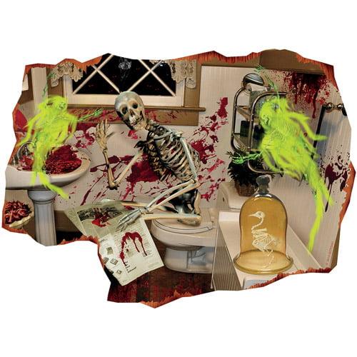 """Lenticular 3D """"The Bathroom"""" Halloween Decoration"""