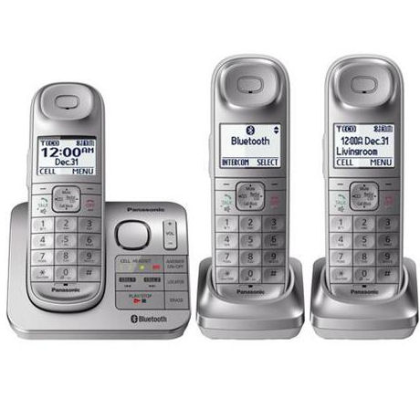 Panasonic KX-TGL463S Expandable Cordless Phone with Comfort Shoulder Grip and Answering Machine - 3 Handset Pack