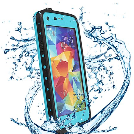 Phone Case,Waterproof Shockproof Snowproof DirtProof Durable Full Protection Case Cover with Waterproof headphones line for Galaxy S5 I9600 ON