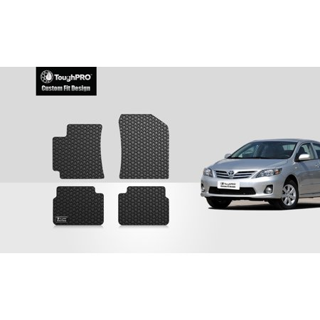 ToughPRO - TOYOTA Corolla 1st & 2nd Row Mats - All Weather - Heavy Duty - Black Rubber - (1989 Toyota Corolla Rubber)