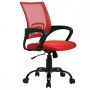 Red Ergonomic Mesh Computer Office Desk Midback Task Chair w/Metal Base H03