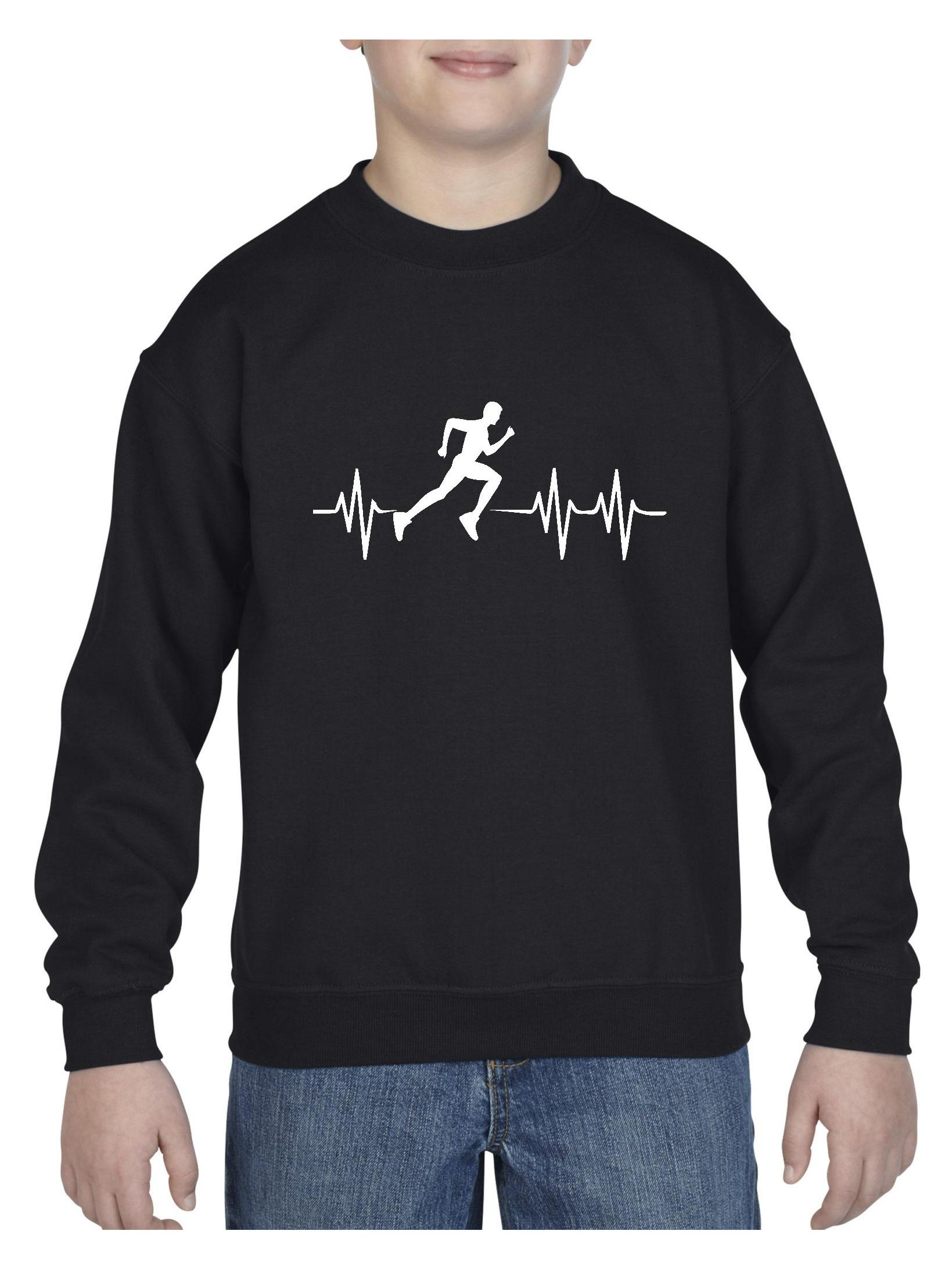Running Unisex Youth Crewneck Sweatshirt