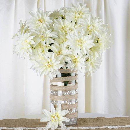 Efavormart 56 Artificial Dahlia Artificial Wedding Flowers For DIY