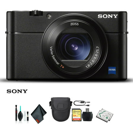 Sony Cyber-shot DSC-RX100 VA Camera DSC-RX100M5A/B With Soft Bag, Additional Battery, 64GB Memory Card, Card Reader , Plus Essential Accessories