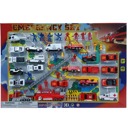 DDI 1895302 46 Piece Diecast Emergency Set, Case of 12