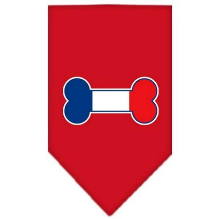 Red Screen Print Bandana (Bone Flag France Screen Print Bandana Red Small )