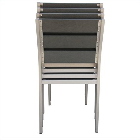 Boraam Fresca Side Chair in Solid Brushed Aluminum (Set of 4) - image 7 of 9