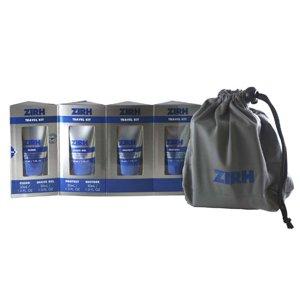 Zirh Travel Kit 5 Pc Gift Set ( Clean Shave Gel Protect & Restore 1.0 Oz Each + Bag)