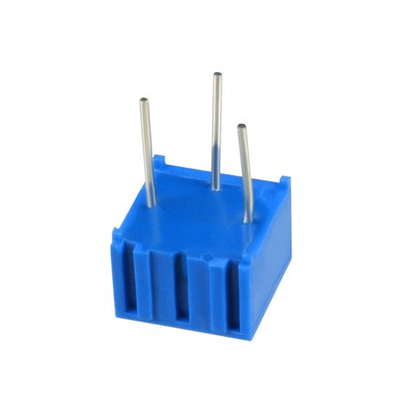 Resistors 200k Ohm Top Adjustment Horizontal Cermet Potentiometer 6 Pcs - image 2 de 6