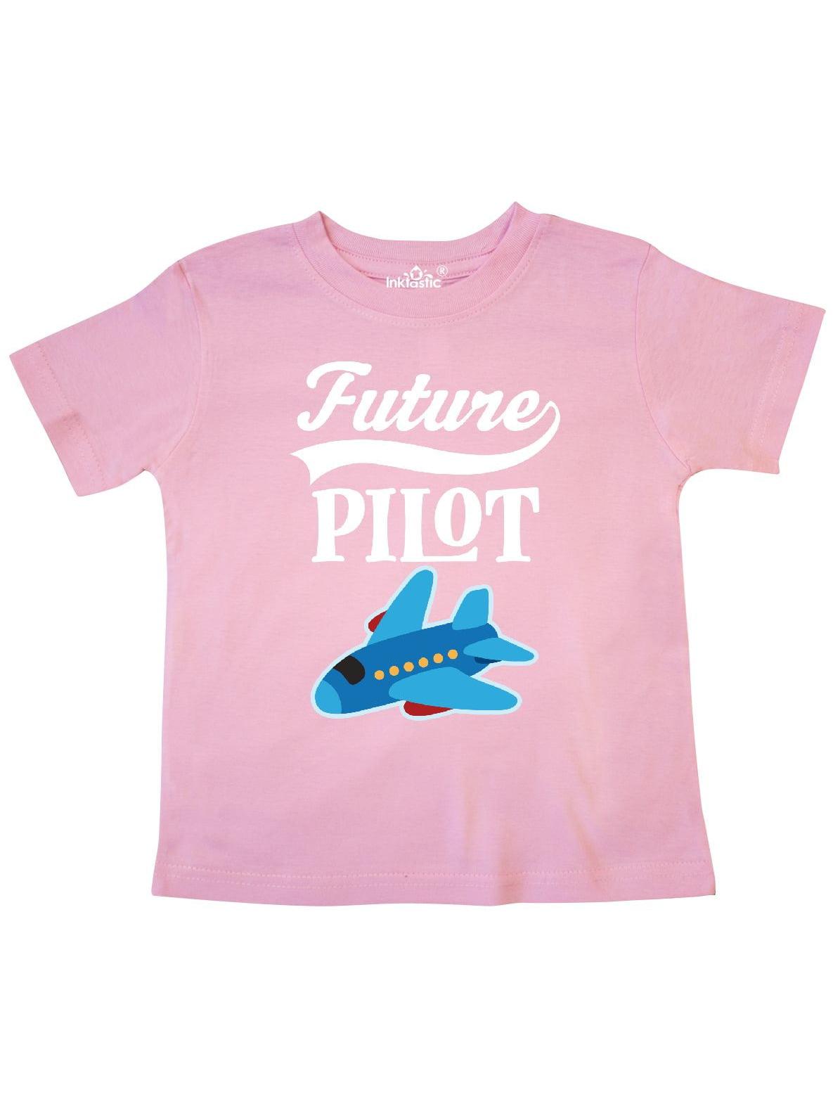 Inktastic Girls Pink Airplane Pilot Infant Dress Plane Future Flying Clothing