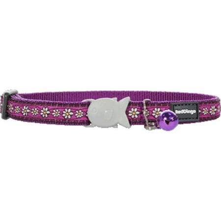 Cat Collar Design Daisy Chain Purple