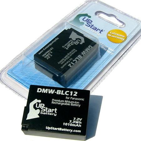 2x Pack - Panasonic Lumix DMC-FZ200 Battery - Replacement for Panasonic DMW-BLC12 Digital Camera Battery (1010mAh, 7.2V,