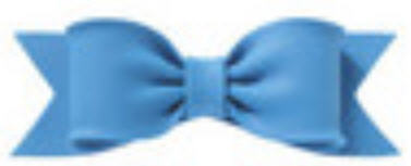 Cake Decoration Gum Paste Bow- Solid Blue