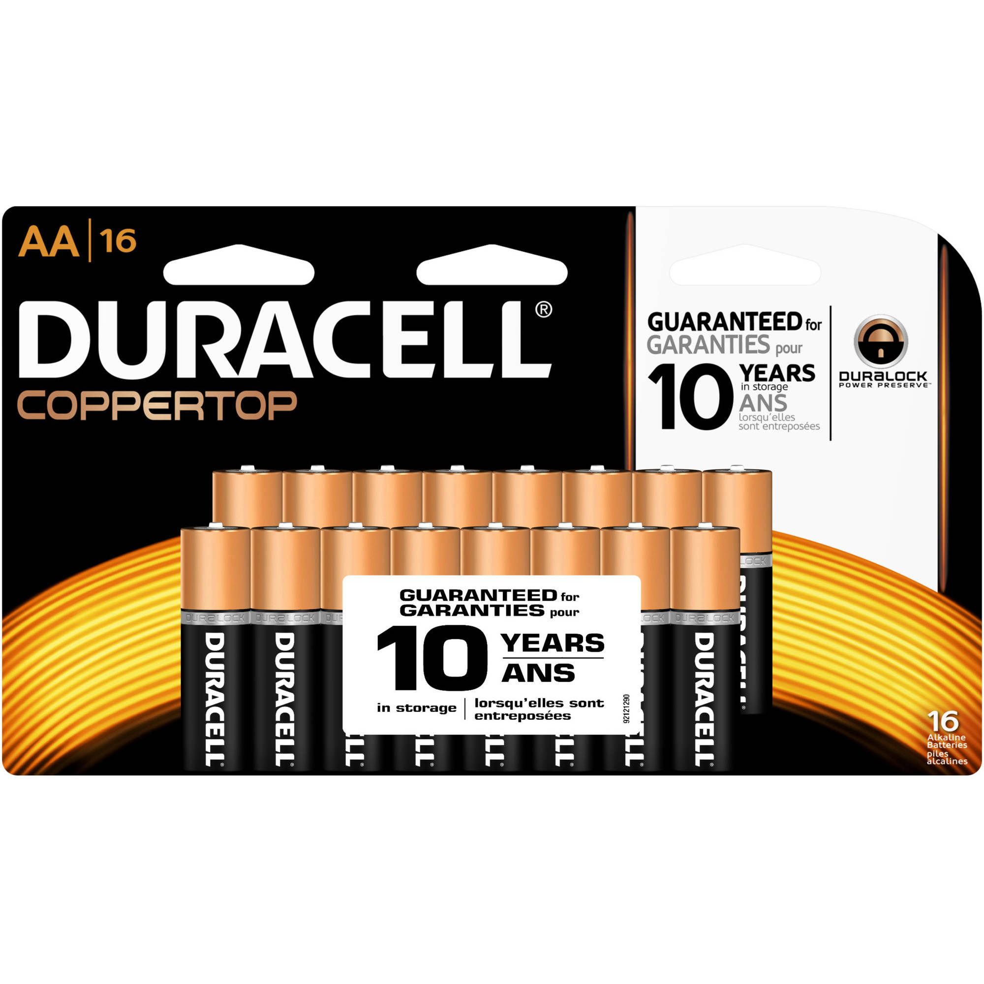 Duracell Coppertop AA Household Batteries Doublewide 16ct Pack
